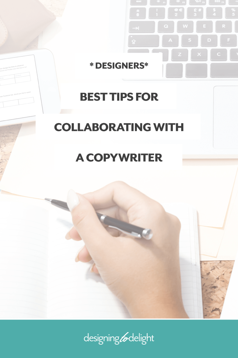 Best tips for designers and freelancers seeking to build strategic partnerships with copywriters. Written by a copywriter! Click through to learn how to smooth out the content creation and content gathering process.