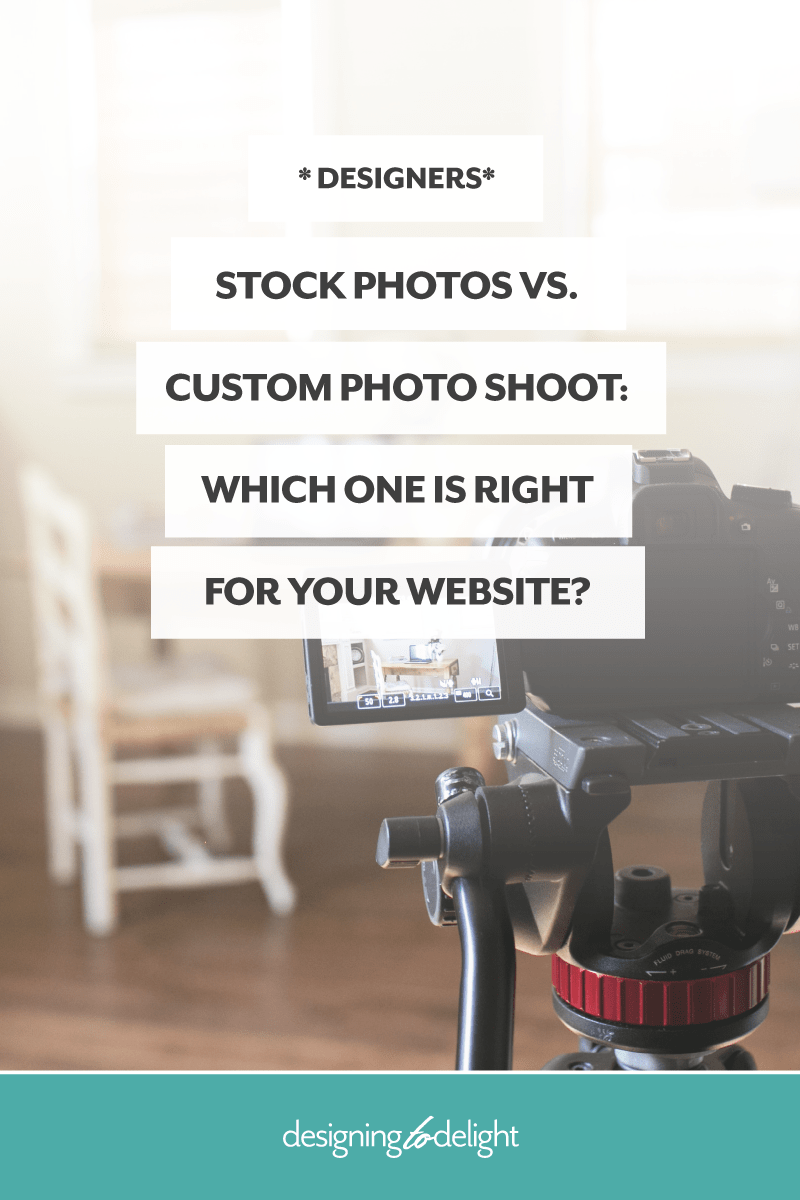 How to know when to use stock photography (or invest in a custom photoshoot) for freelance design projects.