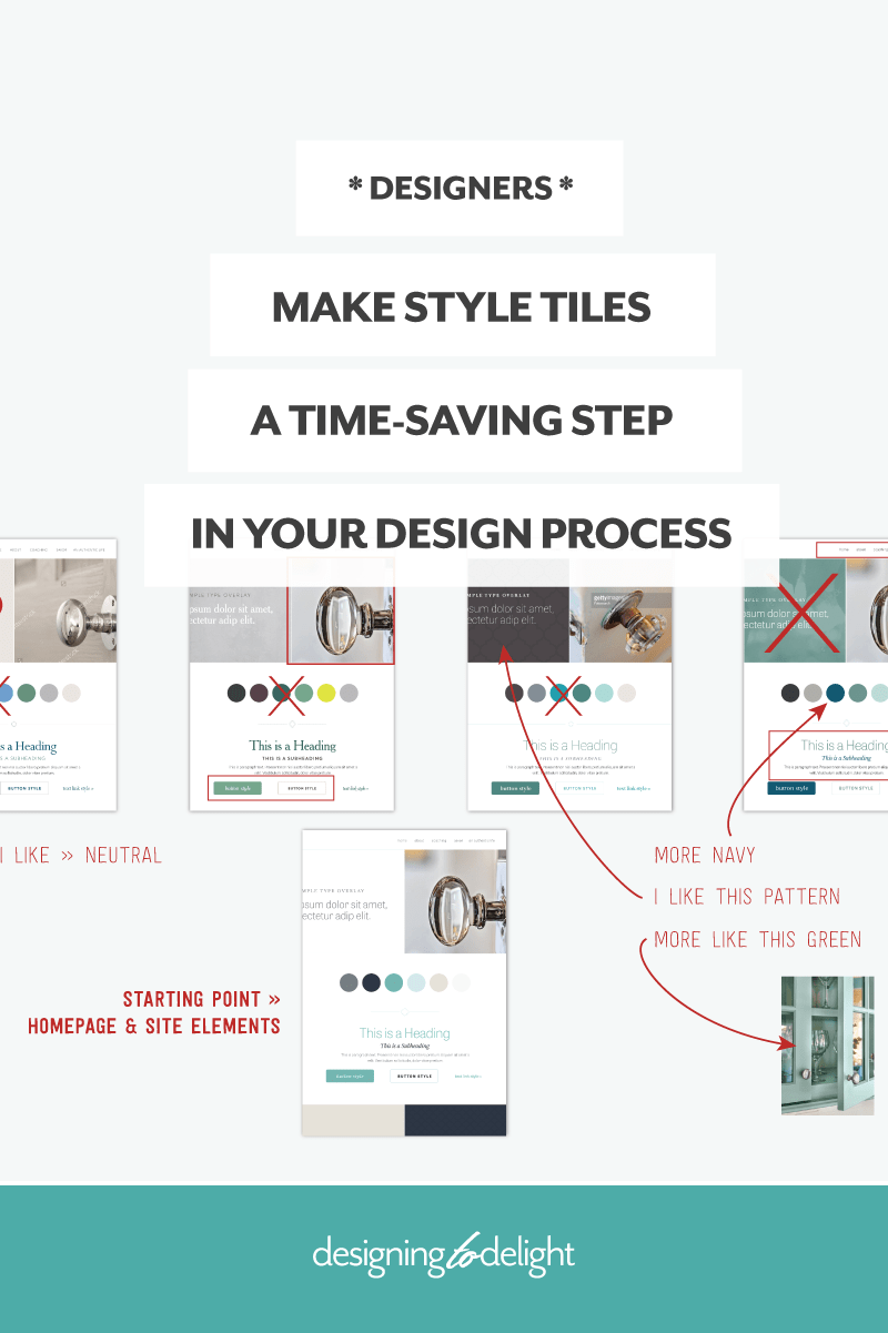 How to use style tiles in your freelance web design process. How to present a style tile to your design client.