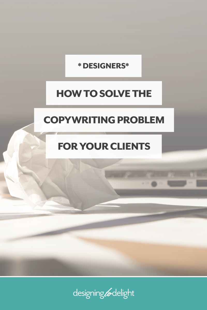 How to get content from your design client - tips for getting ahead of the copywriting problem.