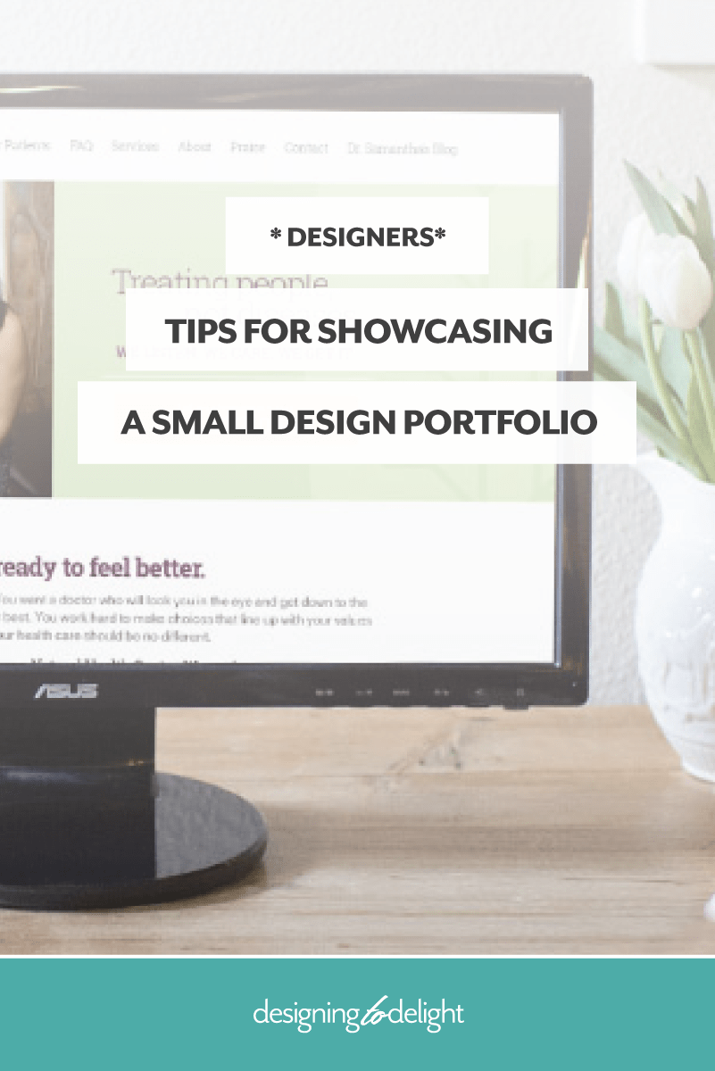 How to organize and display a small freelance design portfolio.